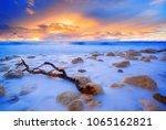 pefkoulia beach in lefkada... | Shutterstock . vector #1065162821