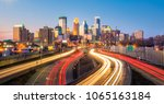 minneapolis downtown skyline in ... | Shutterstock . vector #1065163184