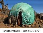 somali issa huts constructed... | Shutterstock . vector #1065170177
