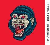 vintage gorilla   king kong... | Shutterstock .eps vector #1065170687
