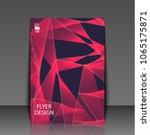 template flyer with abstract... | Shutterstock .eps vector #1065175871