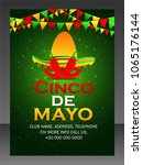 cinco de mayo   5 may   | Shutterstock .eps vector #1065176144