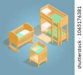 bunk bed  baby crib and baby...   Shutterstock .eps vector #1065176381