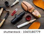 tools for shoe repair. hummer ... | Shutterstock . vector #1065180779