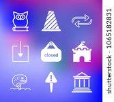 9 premium icon set on gradient... | Shutterstock .eps vector #1065182831