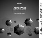 3d modern abstract polygonal... | Shutterstock .eps vector #1065183161