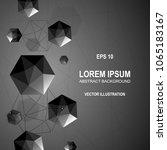 3d modern abstract polygonal... | Shutterstock .eps vector #1065183167