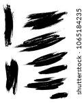 set different grunge brush... | Shutterstock .eps vector #1065184235