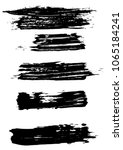 set different grunge brush... | Shutterstock .eps vector #1065184241