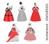 set of vector illustrations of... | Shutterstock .eps vector #1065185201