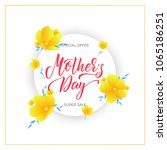 mothers day. mother's day sale... | Shutterstock .eps vector #1065186251