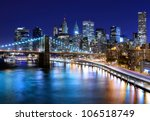Stock photo skyline of downtown new york new york usa 106518749