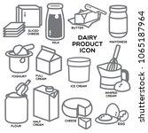 popular dairy product... | Shutterstock .eps vector #1065187964