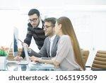 group business partners... | Shutterstock . vector #1065195509