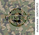 offspring on camouflaged pattern   Shutterstock .eps vector #1065197915