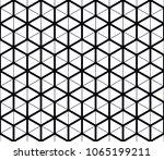 vector seamless geometric... | Shutterstock .eps vector #1065199211