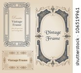 vintage frames and design... | Shutterstock .eps vector #106519961