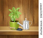 realistic herb background with... | Shutterstock .eps vector #1065199997