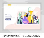 science lab flat landing page... | Shutterstock .eps vector #1065200027