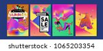 vector summer sale poster and... | Shutterstock .eps vector #1065203354