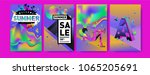 vector summer sale poster and... | Shutterstock .eps vector #1065205691