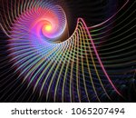 abstract multicolored spiral... | Shutterstock . vector #1065207494