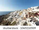 most romantic greek oia town on ...   Shutterstock . vector #1065210509