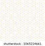 pattern geometric gold line... | Shutterstock .eps vector #1065214661