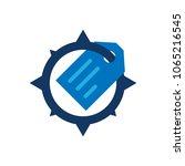 tag compass logo icon design   Shutterstock .eps vector #1065216545
