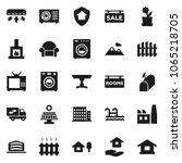 flat vector icon set   house... | Shutterstock .eps vector #1065218705