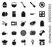 flat vector icon set   plates... | Shutterstock .eps vector #1065223301