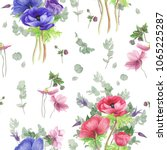 seamless floral pattern with... | Shutterstock . vector #1065225287