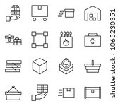 flat vector icon set   gift... | Shutterstock .eps vector #1065230351