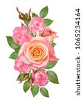 floral background.bouquet ... | Shutterstock . vector #1065234164