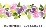 seamless watercolor floral... | Shutterstock . vector #1065236165