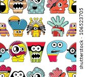 monster seamless | Shutterstock .eps vector #106523705