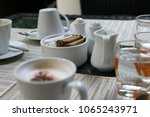 flavoring of coffee cup with... | Shutterstock . vector #1065243971
