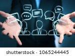 businessman on blurred... | Shutterstock . vector #1065244445