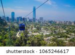 cable car in san cristobal hill ... | Shutterstock . vector #1065246617