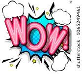 comic design speech bubbles ...   Shutterstock .eps vector #1065249461