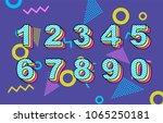 vector of 80's retro folding... | Shutterstock .eps vector #1065250181