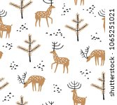 seamless pattern with wild... | Shutterstock .eps vector #1065251021