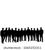 vector  isolated  silhouette... | Shutterstock .eps vector #1065252311