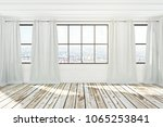 white spacious empty... | Shutterstock . vector #1065253841
