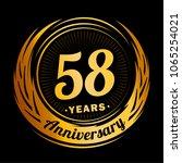 58 years anniversary.... | Shutterstock .eps vector #1065254021