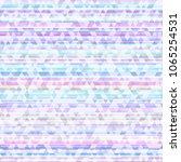 neon triangle seamless pattern | Shutterstock .eps vector #1065254531