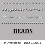 beautiful colorful beads ... | Shutterstock .eps vector #1065262031