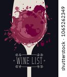 vector wine list with a... | Shutterstock .eps vector #1065262349
