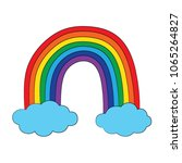 rainbow isolated colorful... | Shutterstock .eps vector #1065264827