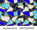 textile fashion african print... | Shutterstock .eps vector #1065265964